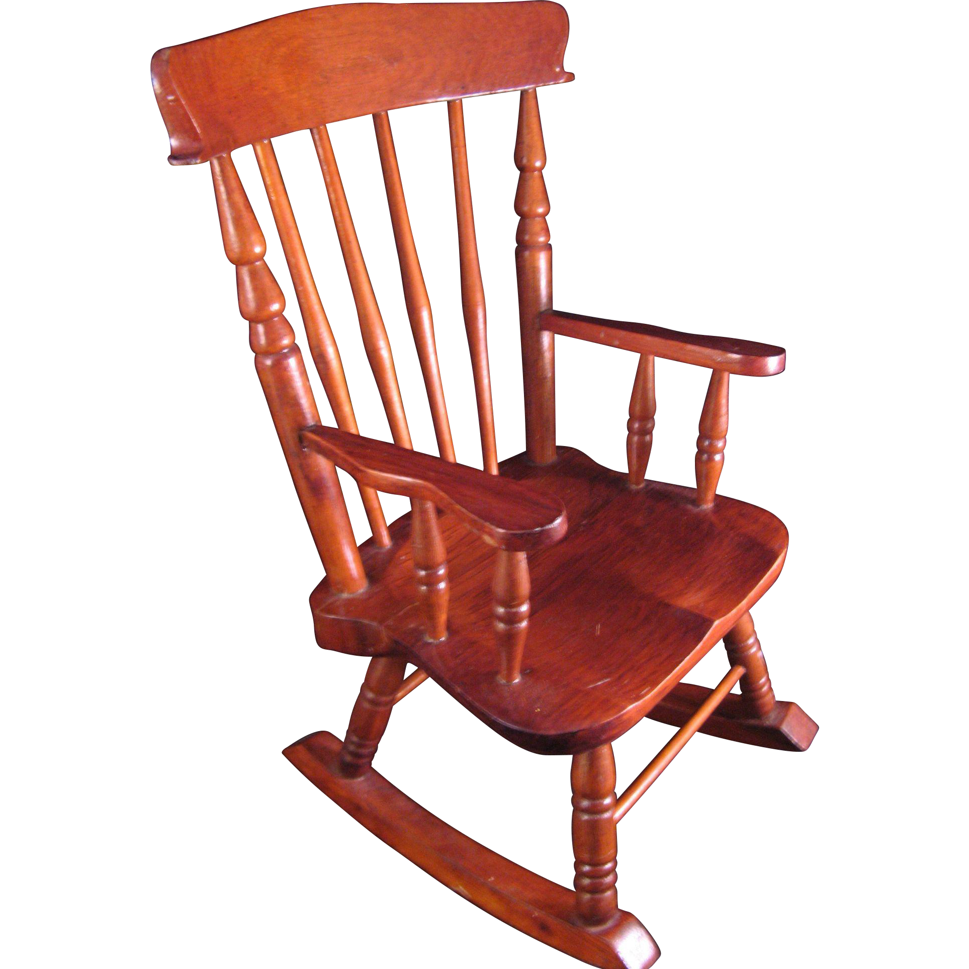 Vintage Colonial Maple Doll Rocking Chair - Handmade 13