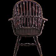 Maple Windsor Large Doll Chair marked Sturbridge Yankee Workshop