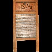 Vintage Dubl Handi Washboard Lingerie Hosiery Columbus Washboard Co. Ohio