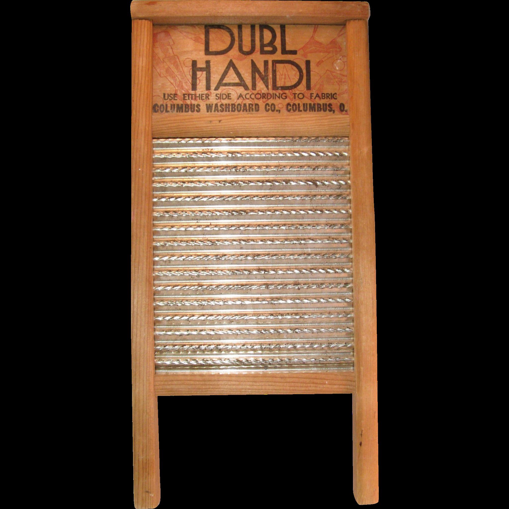 Vintage Dubl Handi Washboard Lingerie Hosiery Columbus