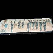 Vintage Wood Pencil box Military School c1920's