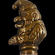 Antique Figural Brass Matchsafe, Match Safe, or Vesta Mr. Punch the Clown