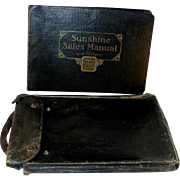 Rare Loose-Wiles Biscuit Company of Kansas City Missouri Sunshine Biscuit Sales Manual Leather Bound in Leather Bag