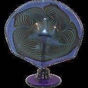 1988 Vintage Cobalt Blue Art Glass Jack in the Pulpit Flower By Bruce Freund