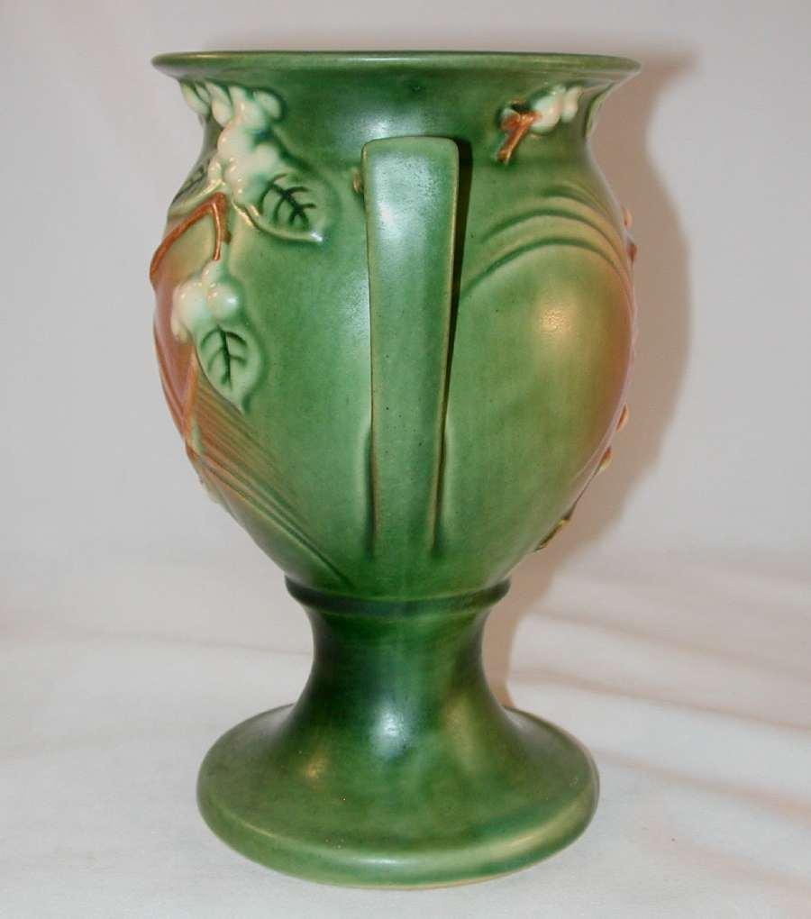 Quot Rare Quot Roseville Pottery Late 1940s Snowberry Pattern Trophy Vase From Giameraandc On Ruby Lane