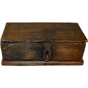 Early 20th Century Large Wooden Wood Box Boys Union Tool Chest No. 60B Beautiful Original Paper Decal
