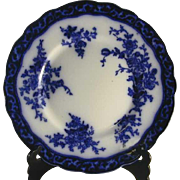 Beautiful 1920s Flow Blue Plate Touraine Pattern By Stanley England