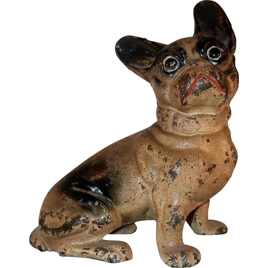 Old cast iron doorstop full figure french bulldog by hubley or from giameraandc on ruby lane - Cast iron doorstop ...