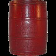 Vintage Painted Wood Humidor or Tobacco Jar with Locking Lid Briggs Wood Aged Smoking Tobacco