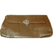 Vintage Gold Colored Clutch Mesh Purse By Whiting Davis For Your Mesh Purse Collection