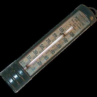 Vintage Salesman Sample  Advertising Thermometer Sample No. 2805 Missouri Oil Co.