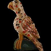 Fantastic 1996 Schimmel Like Carved Wood Polychrome Painted Eaglet By Jonathan Bastian
