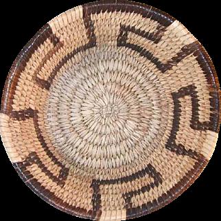 Old Papago Tohono O'Odham Indian Basket Small Deep Bowl Simple Linear Key Design
