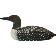 1985 American Wildlife Collection Common Loon After a carving by Joe Revello Painted by B Hayes American Wildlife Collection from Craft-Tex Inc.