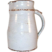 1974 Redware Glazed Pitcher Blue Gray and Brown Coloring President Ford Pardons Richard Nixon by Left Handed Russell Henry