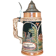 1952 University of Pennsylvania Eric P. Mihan Beer Stein Pewter Lid Germany