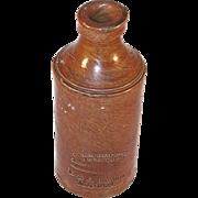 Old Vitreous Stone Bottle By J. Bourne & Son Patentees Denby Pottery London England