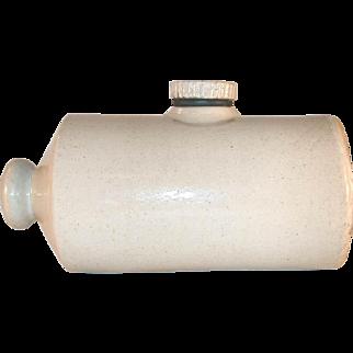 Vintage Salt Glazed Stoneware Bed and Foot Warmer Hot Water Bottle