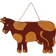 1983 Redware Beautiful Ned Foltz First Cut-out Cow As Noted By Him in 2012