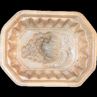 Old Yellowware Yellow Ware Food Mold Beautiful Deep Grape Design