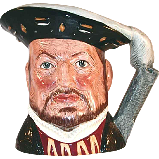 "Vintage Large Royal Doulton  Toby Character Mug King ""Henry VIII"" London Tower Handle"