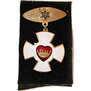 Independent Order of Odd Fellows Vintage Decoration of Chivalry Enameled Medal Rebekah Lodge #324, Edinboro, PA