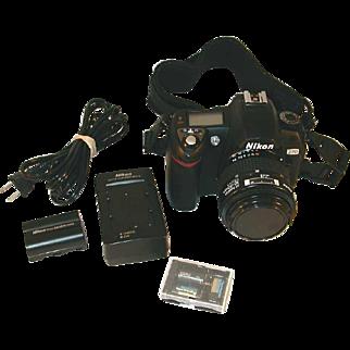 Nikon D70 Digital SLR Camera Body, Battery Packs, 35-70mm AF Nikkor Lens & Strap