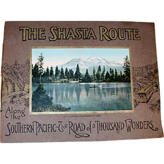 1915 Color Photos Book The Shasta Route Scenic Guide Book San Francisco to Portland Southern Pacific Lines