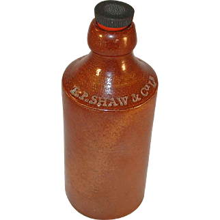 Vintage Stoneware Ginger Bottle By E. P. Shaw Wakefield Bourne Denby Pottery England