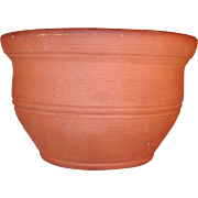 Beautiful 1978 Glazed Undecorated Deep Redware Bowl by C. Ned Foltz