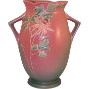 """""""Rare"""" and Beautiful Roseville Pottery 1940s Pink Columbine Vase 17-7"""""""