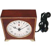 Beautiful Vintage Seth Thomas Wooden Body Electric Alarm Clock Made in USA