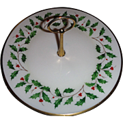 Beautiful LENOX HOLIDAY , Center handle serving plate 10 inch