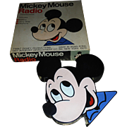 Vintage MICKEY MOUSE transistor radio early 60's