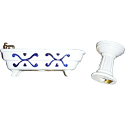 VICTORIAN miniature Doll Furniture, bathroom set made of porcelain,
