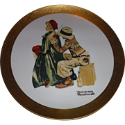 Living American Artist an annual series Plate  NORMAN ROCKWELL