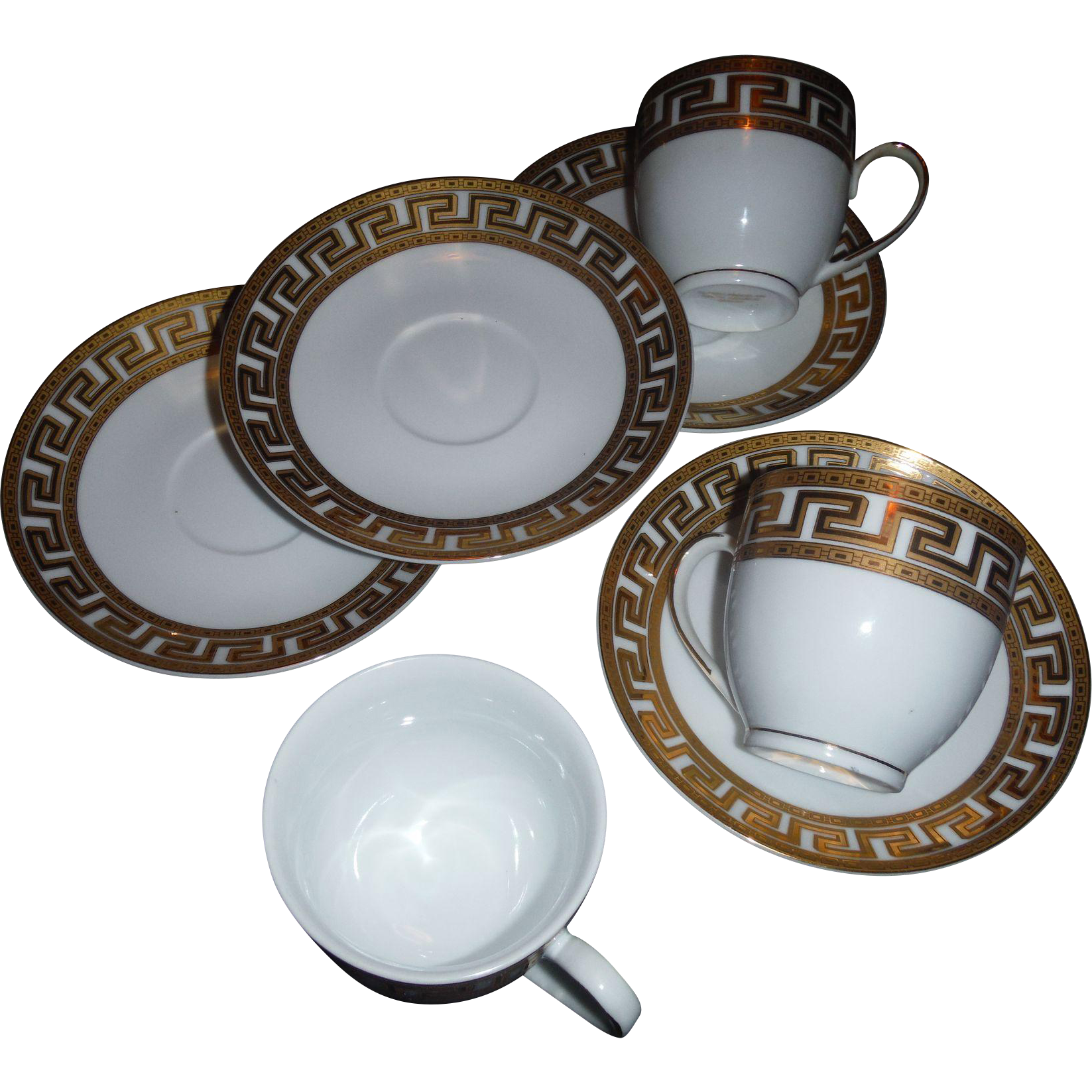 Key Art Design : Greek key art deco design cups and saucers sold on