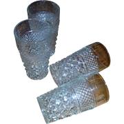"""Four (4) 5 1/4"""" 10 oz Flat Tumbler in """"Wexford"""" by Anchor Hocking."""