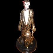 LEOPARD Franklin Mint  Porcelain Figurine House of Erte Sevenarts Ltd.