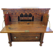 Empire Period Butler's Desk Flame Mahogany, Circa 1810-1830