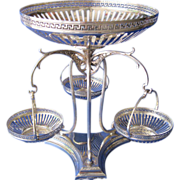Art Nouveau WMF  Silverplate Epergne, Circa 1895-1899