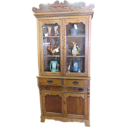 Eastlake/Arts & Crafts Golden Oak  Country Kitchen Cupboard Circa 1890