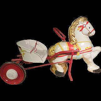MOBO D. Sobel & Co. Toy Pony and Cart England Circa 1949