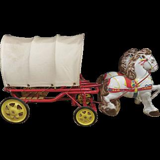 Mobo Pony Pioneer Covered Wagon, Circa 1949