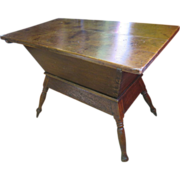 Pine Dough Box Table (Trough And Tray), Circa 1840s - Red Tag Sale Item