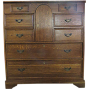 Majestic Mission Oak Chest Of Drawers, circa 1910