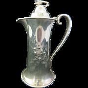 Rockford Quadruple Silver Plate Chocolate Pot Art Nouveau Circa 1890s
