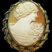 Vintage Shell Cameo Woman image