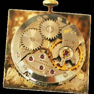 Vintage Baume & Mercier Gazzara watch mechanism only  runs good