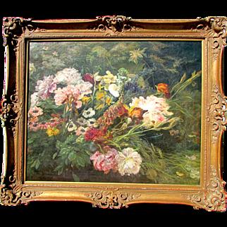 Antique Floral Still Life Painting. C.1900